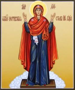 """Икона """"Пресвятая Богородица именуемая Нерушимой стеной"""""""